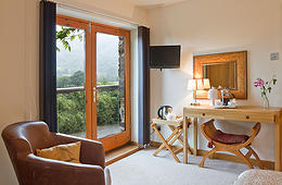 One of the rooms at Dolffanog Fach - so comfortable and look at that view