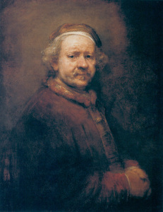 Rembrandt, self-portrait at the age of 63