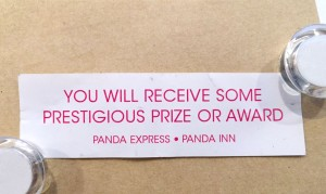 Fortune Cookie - never dismissing them again!