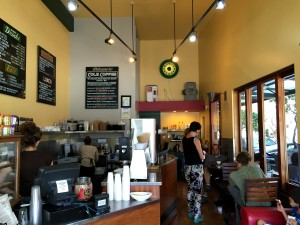 Cole Coffee, Oakland CA. Perfect for people-watching if not for actual writing!
