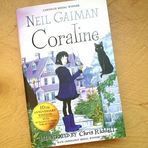 Day 2 of the Glenogle & Bell advent calendar is favourite cover and I've chosen Chris Riddell's illustration for Coraline by Neil Gaiman