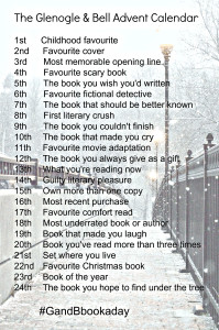 Literary advent calendar - Tell me your favourite books #GandBbookaday