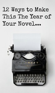 12 ways to make this the year of your novel from www.vanessarobertson.co.uk