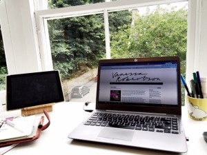 My current writing space